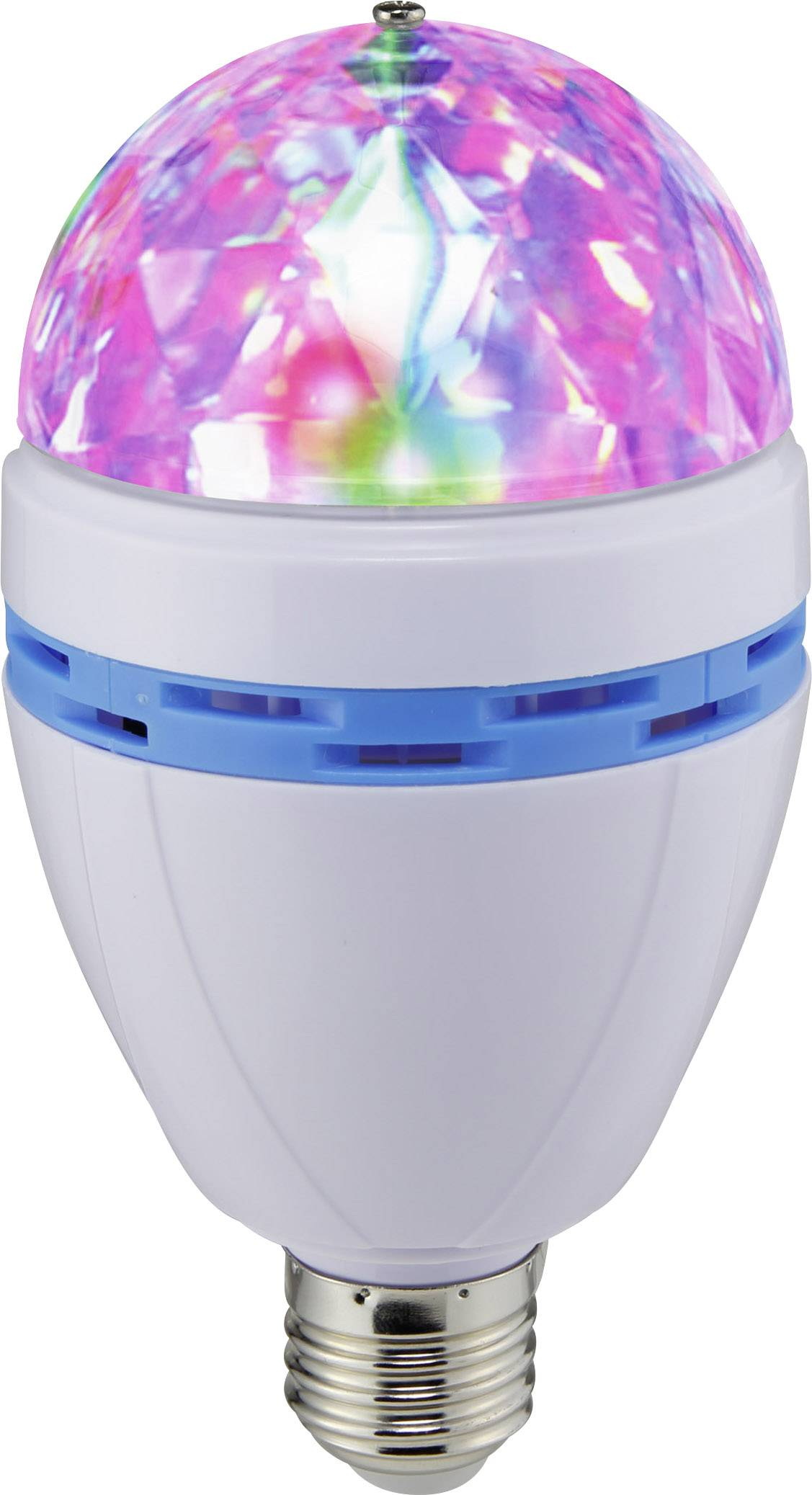 Párty žárovka multicolor Renkforce E27, bílá