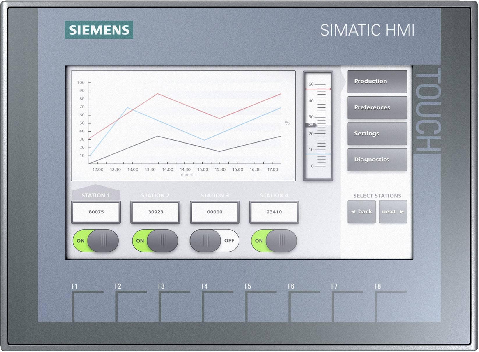 Rozširujúci displej Siemens SIMATIC HMI KTP700 BASIC 6AV2123-2GB03-0AX0, 24 V/DC