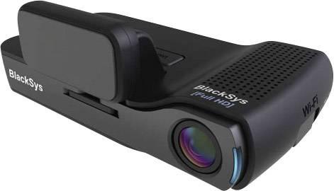 Kamera za čelné autosklo s GPS BlackSys CH-100B, 135 °, 12 V, 24 V, duálna kamera, na akumulátor, mikrofón