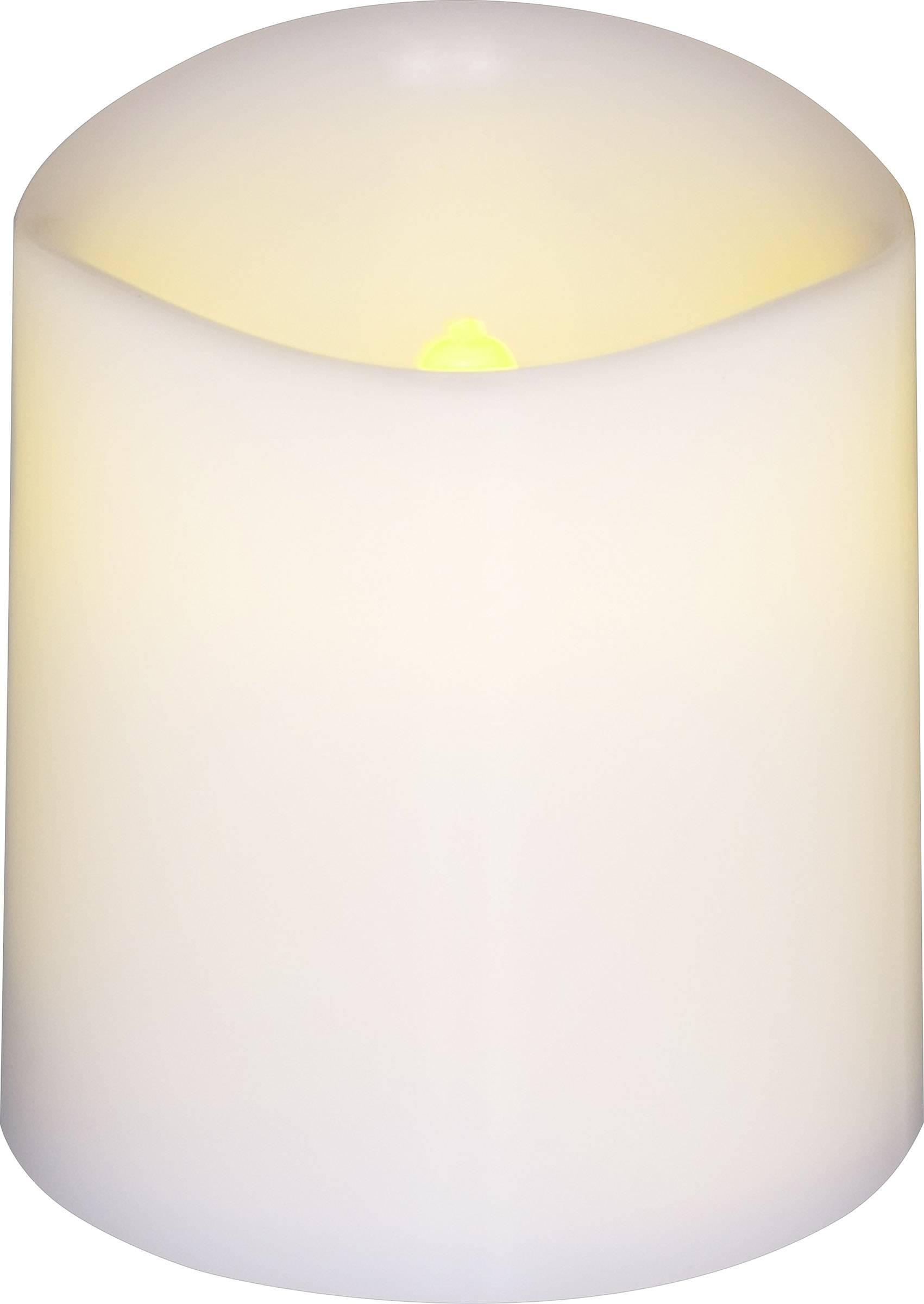 LED vosková svíčka Polarlite LBA-30-005, (š x v) 3.8 cm x 4.2 cm bílá, jantarová sada 4 ks