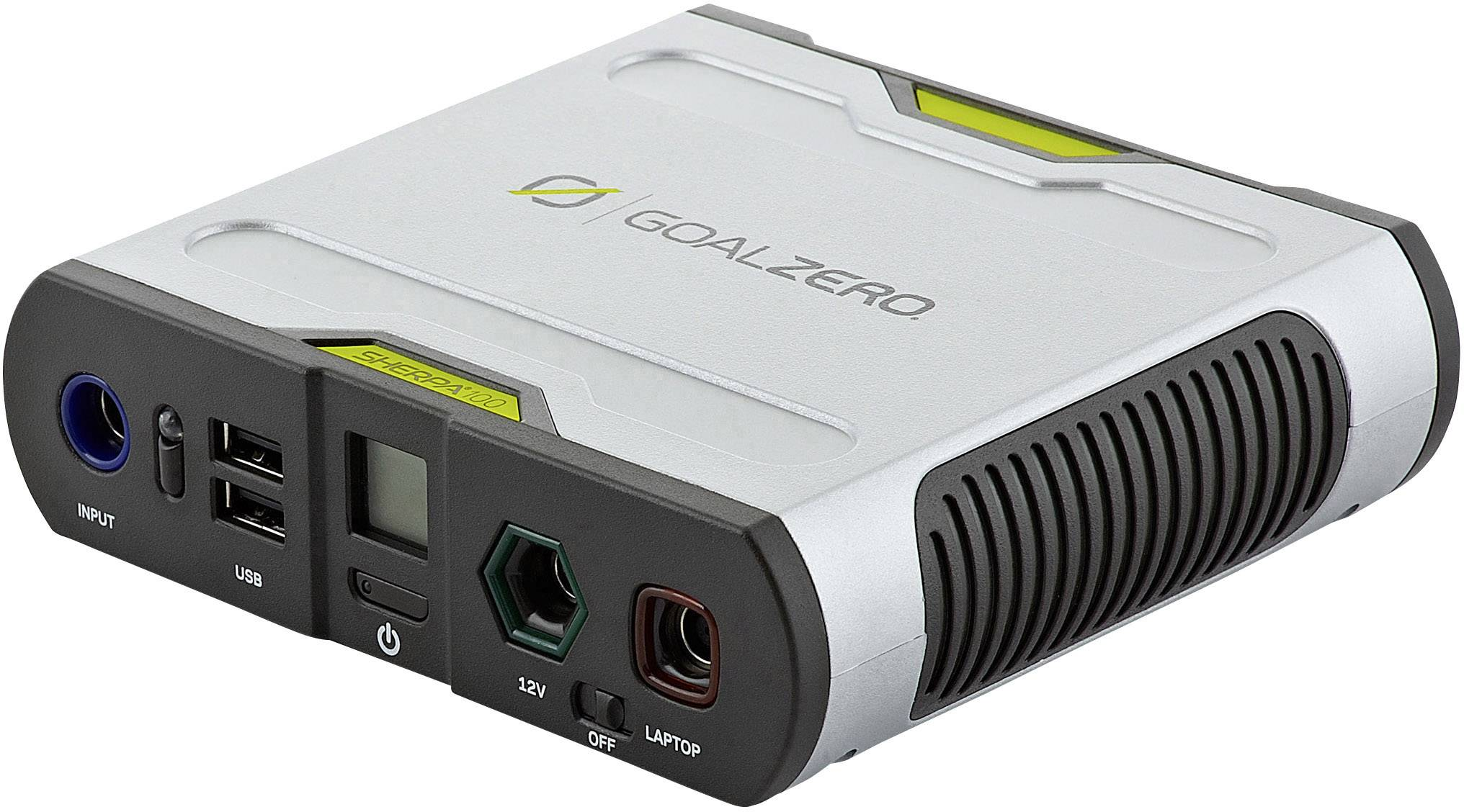 Powerbanka Goal Zero Sherpa 100 Recharger 98 Wh, Li-Ion akumulátor 26400 mAh, stříbrná