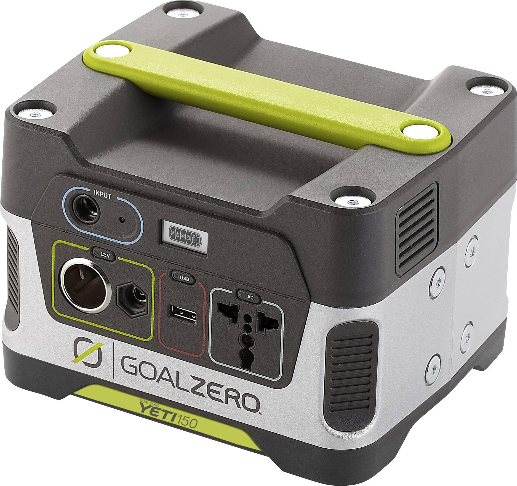 Přenosná nabíjecí stanice Goal Zero Yeti 150, solární generátor 230 V, 14000 mAh