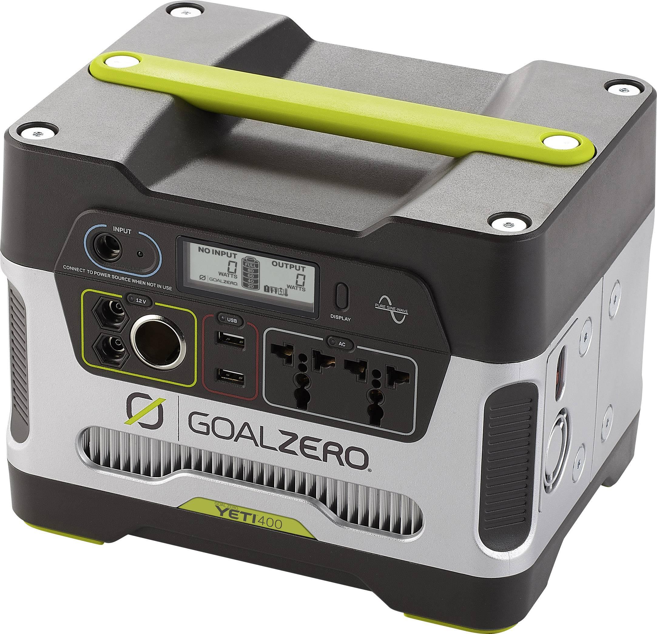 Nabíjecí stanice Goal Zero Yeti 400, solární generátor 230 V, 33000 mAh