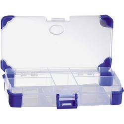 Krabička na drobné súčiastky VISO JAP 1407, priečinkov: 5, 140 x 70 x 30 , priehľadná