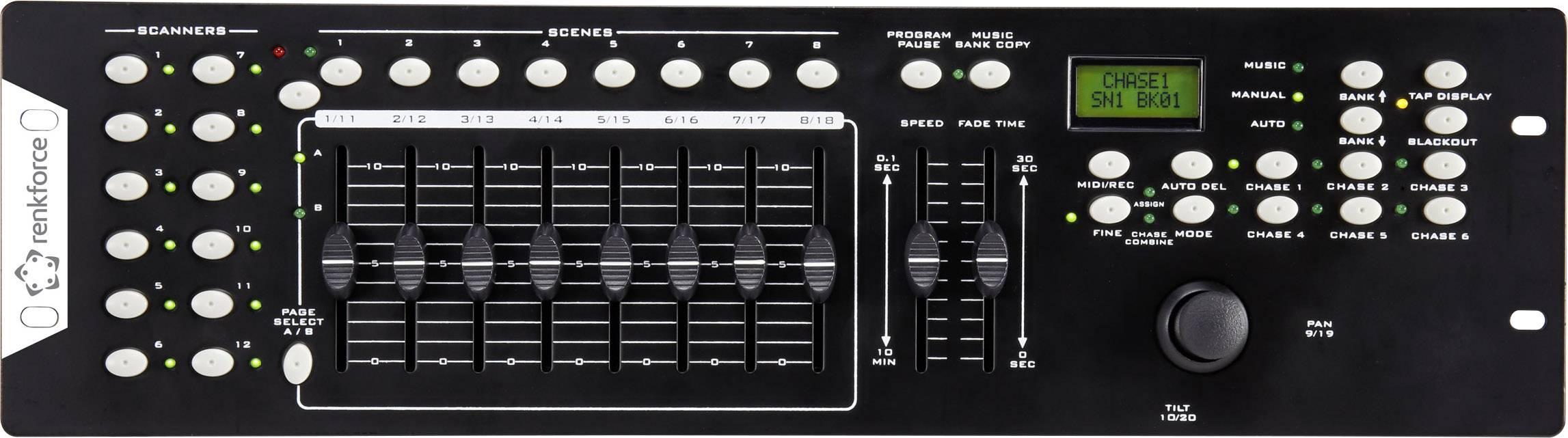 DMX kontrolér Renkforce Joystick 8-kanálový