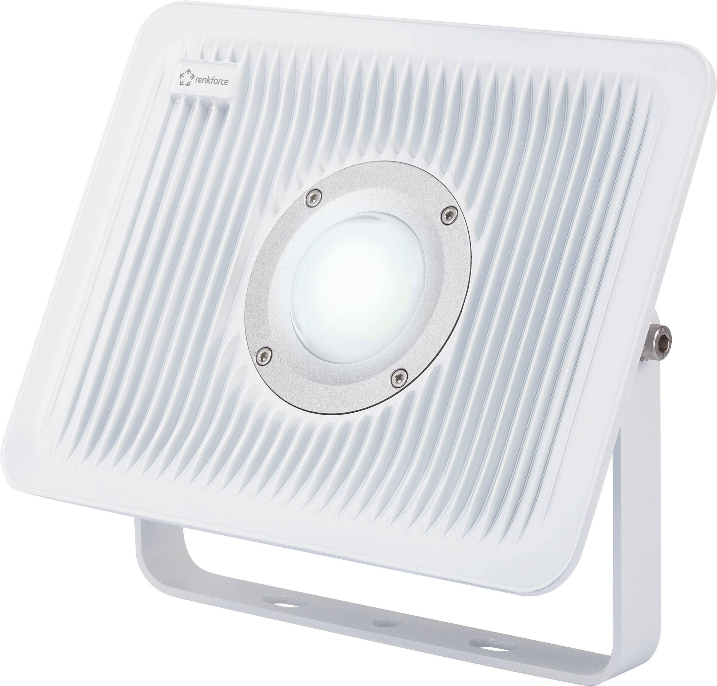 LEDvonkajšieosvetlenie Renkforce 1361117, 50 W, chladná biela, sivá