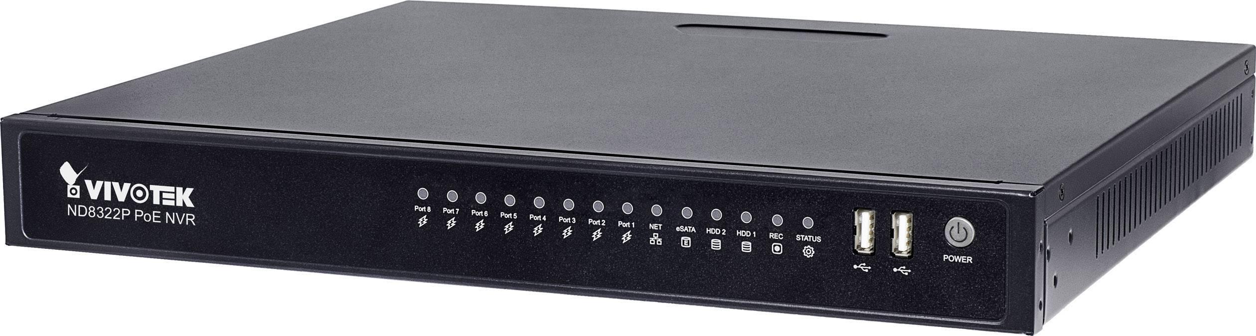 Síťový IP videorekordér (NVR) pro bezp. kamery Vivotek ND8322P, 8kanálový