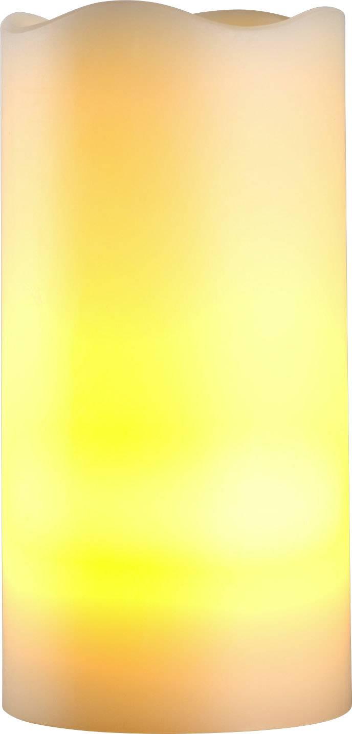 LED sviečky Polarlite, teplá biela (Ø x v) 7.5 x 15 cm, slonová kosť