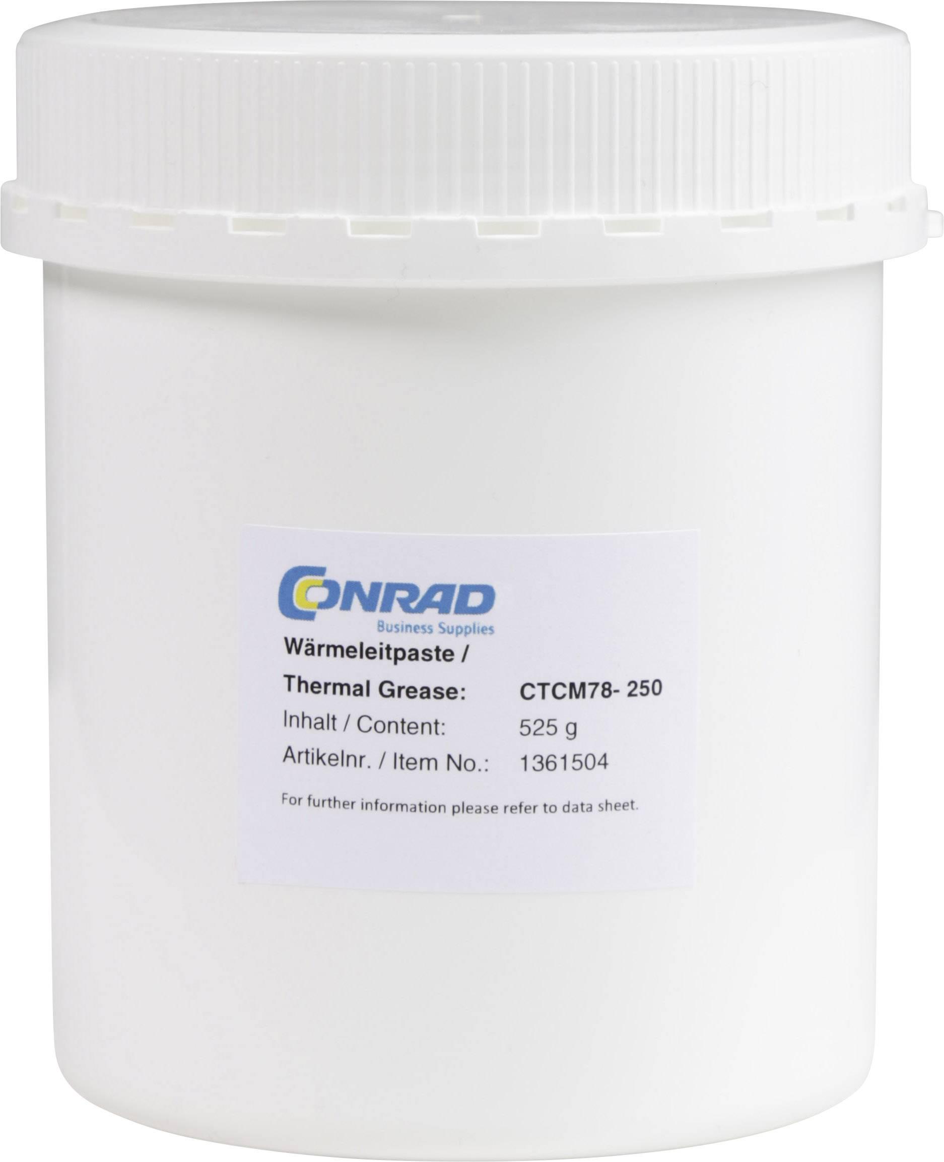 Teplovodivá pasta Conrad CTCM78-250, 7,8 W / mK, 525 g