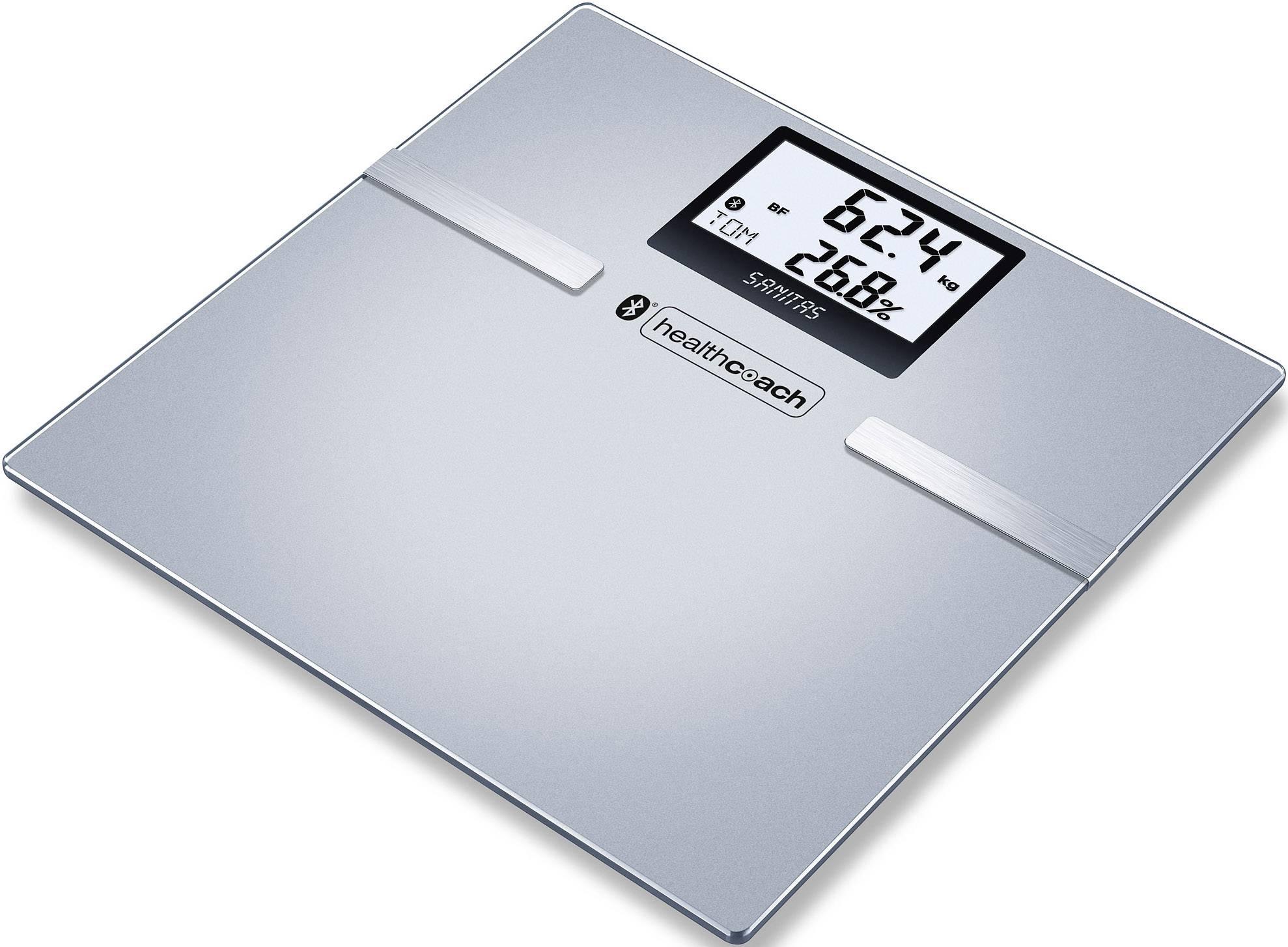 Váha s diagnostikou tělesných parametrů Sanitas SBF 70, šedá