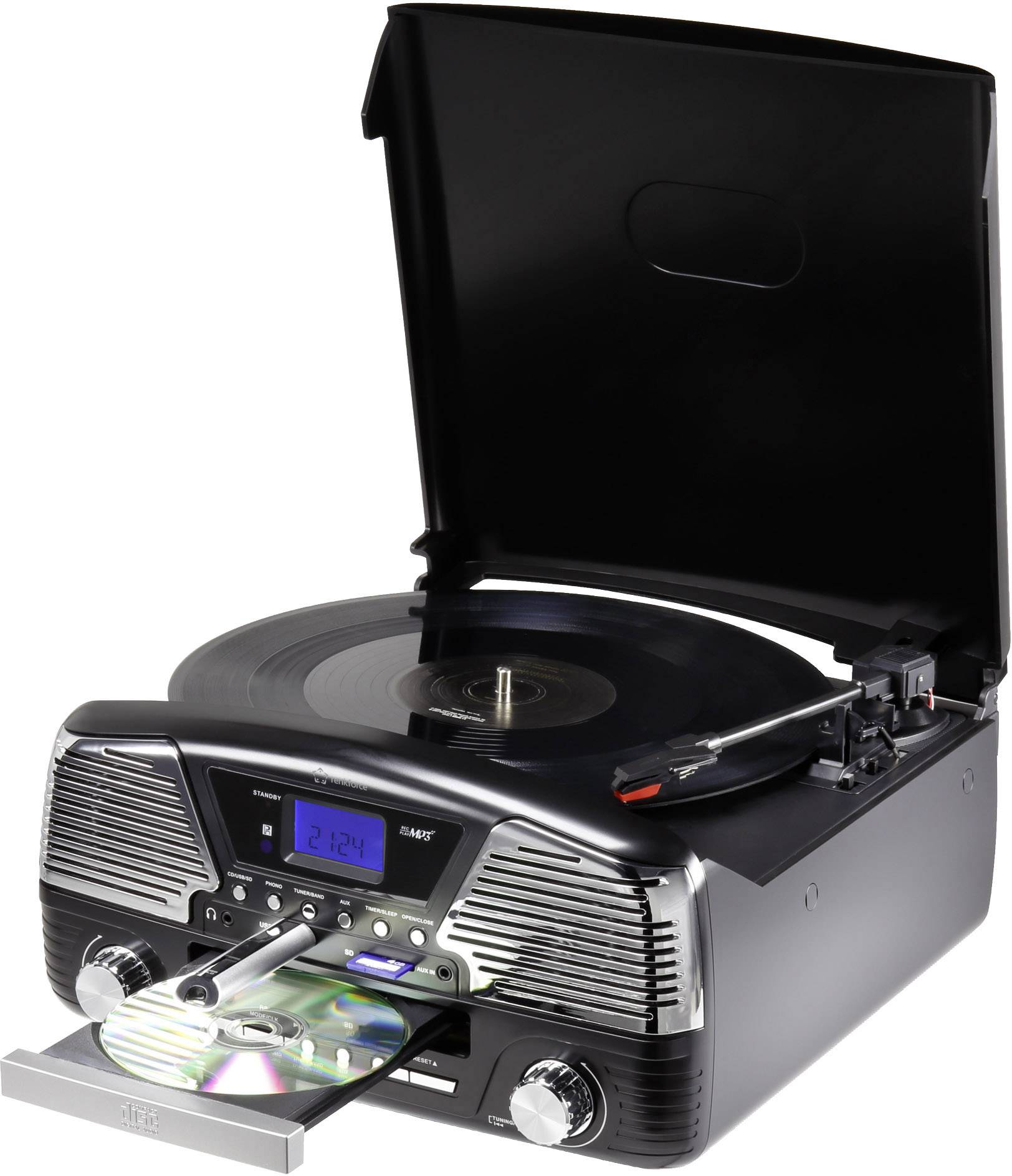 Retro gramofón RENKFORCE MT-35, čierna