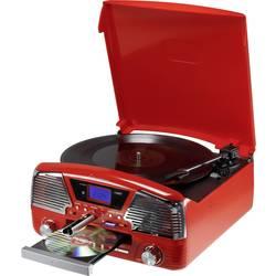 Retro gramofón RENKFORCE MT-35, červená
