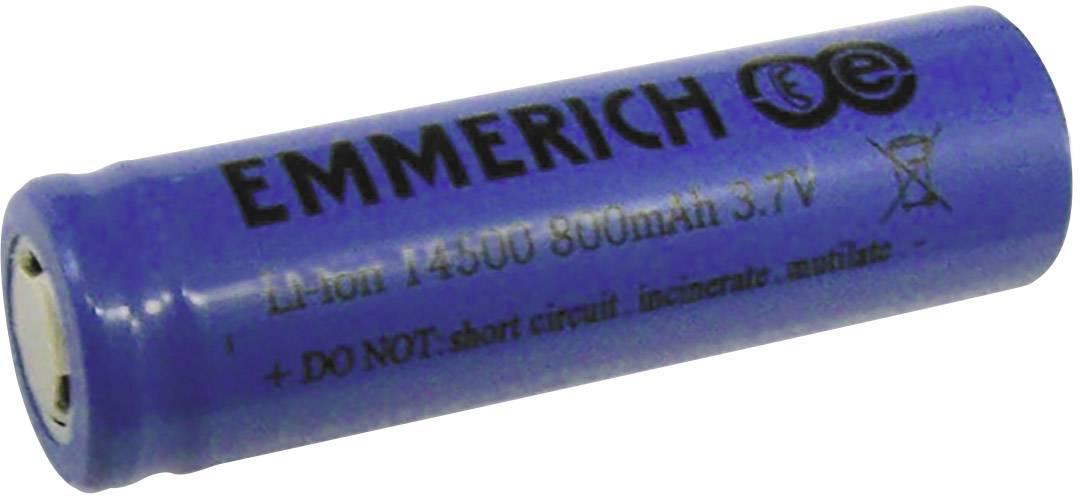 Speciální akumulátor Emmerich 14500, Li-Ion, 3.7 V, 800 mAh