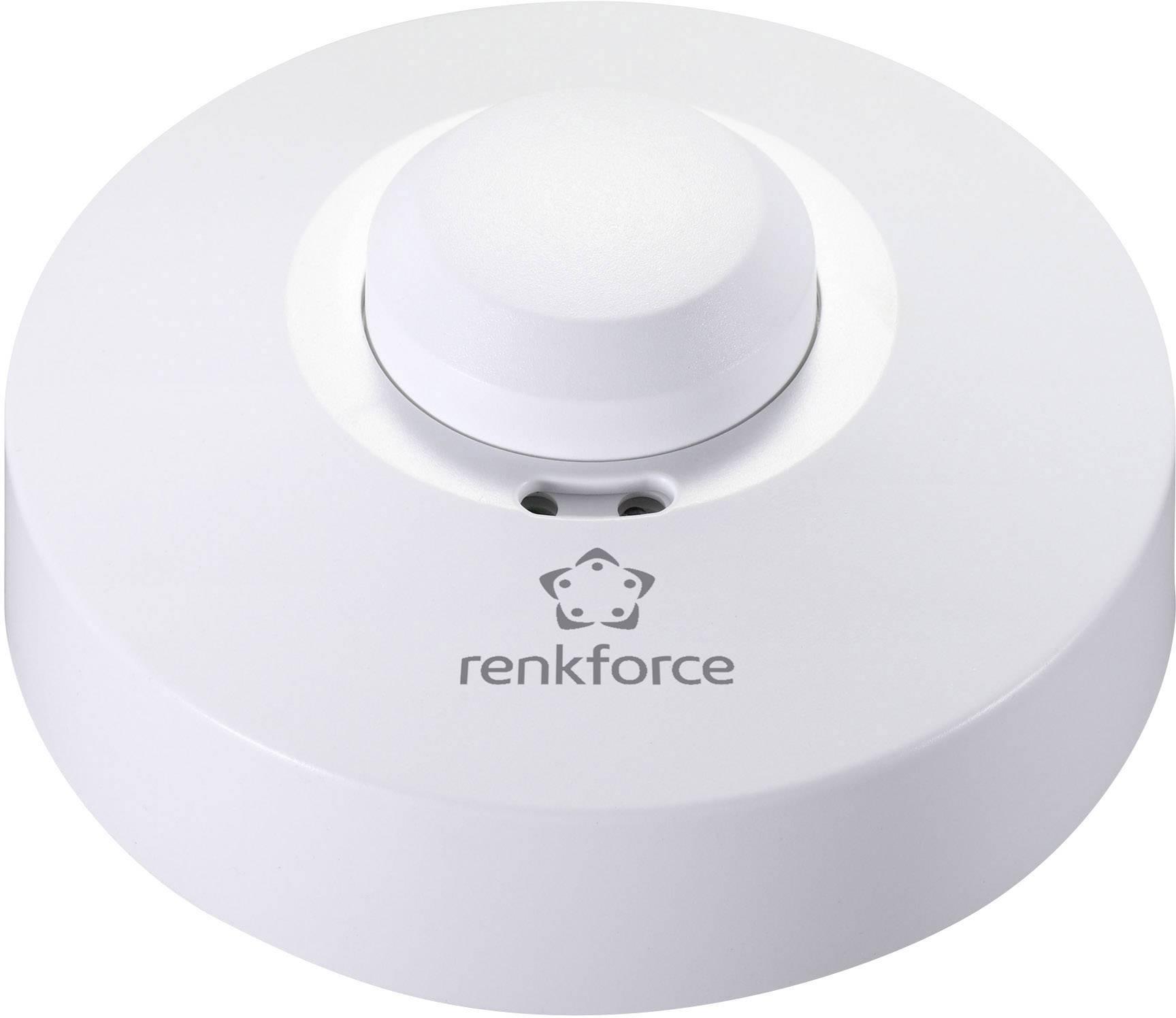 Vysokofrekvenčný senzor pohybu Renkforce 1362921, 360 °, relé, biela, IP20