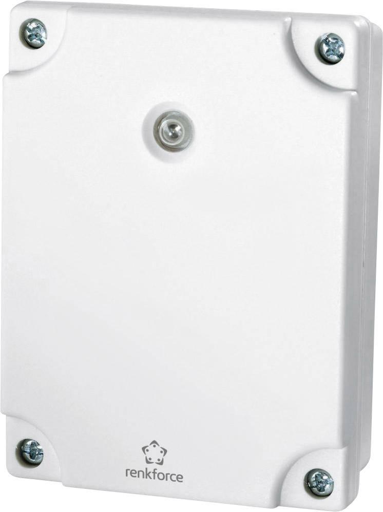 Súmrakový spínač s časovačom RENKFORCE, biela, IP55, 1000 W