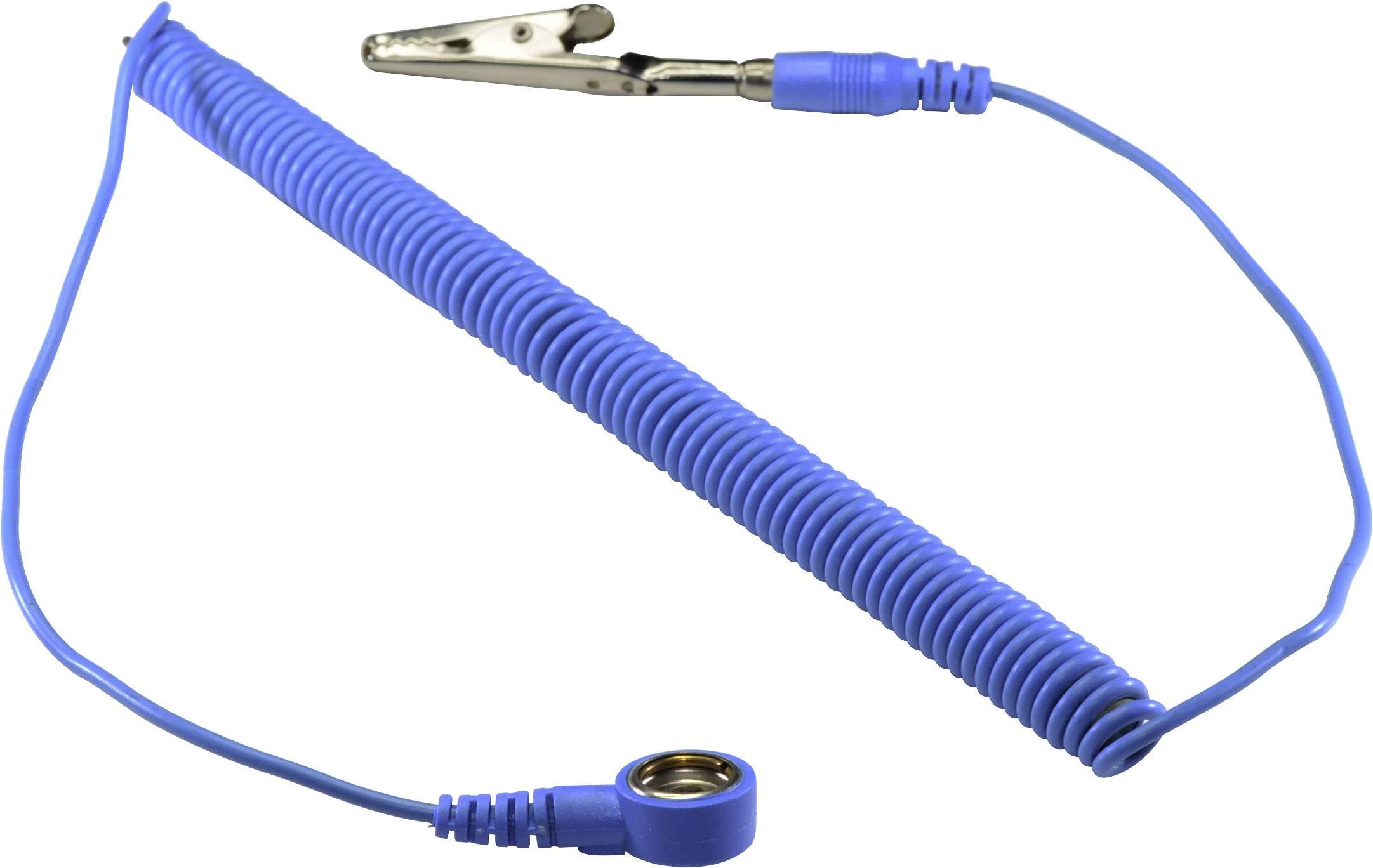 ESD uzemňovací kábel Conrad Components SpKL-10-244-SK, 2.44 m