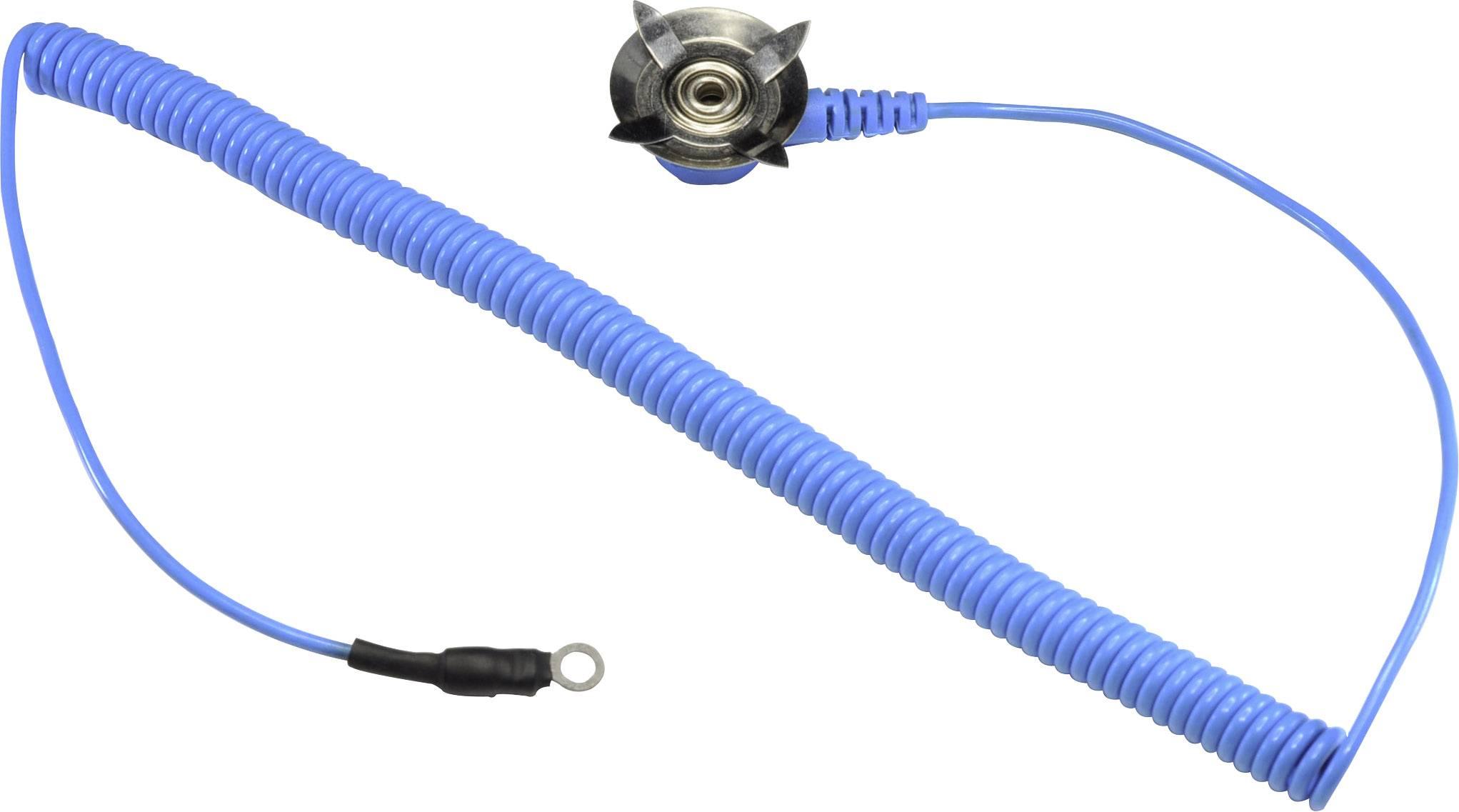 ESD zemnicí kabel k rohoži Conrad Components EkA-183-AD-R, 1.83 m prstencové očko 4 mm