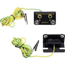 ESD zemnicí box Conrad Components EBO-SETW-4-183-S/K, vč. zemnicího kabelu 1.83 m EBO-SETW-4-183-S/K tlačítko 4 mm , krokosvorka