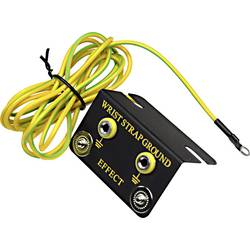 ESD zemnicí box Conrad Components EBO-SETW-10-183-R, vč. zemnicího kabelu 1.83 m EBO-SETW-10-183-R tlačítko 10 mm, prstencové očko 4 mm