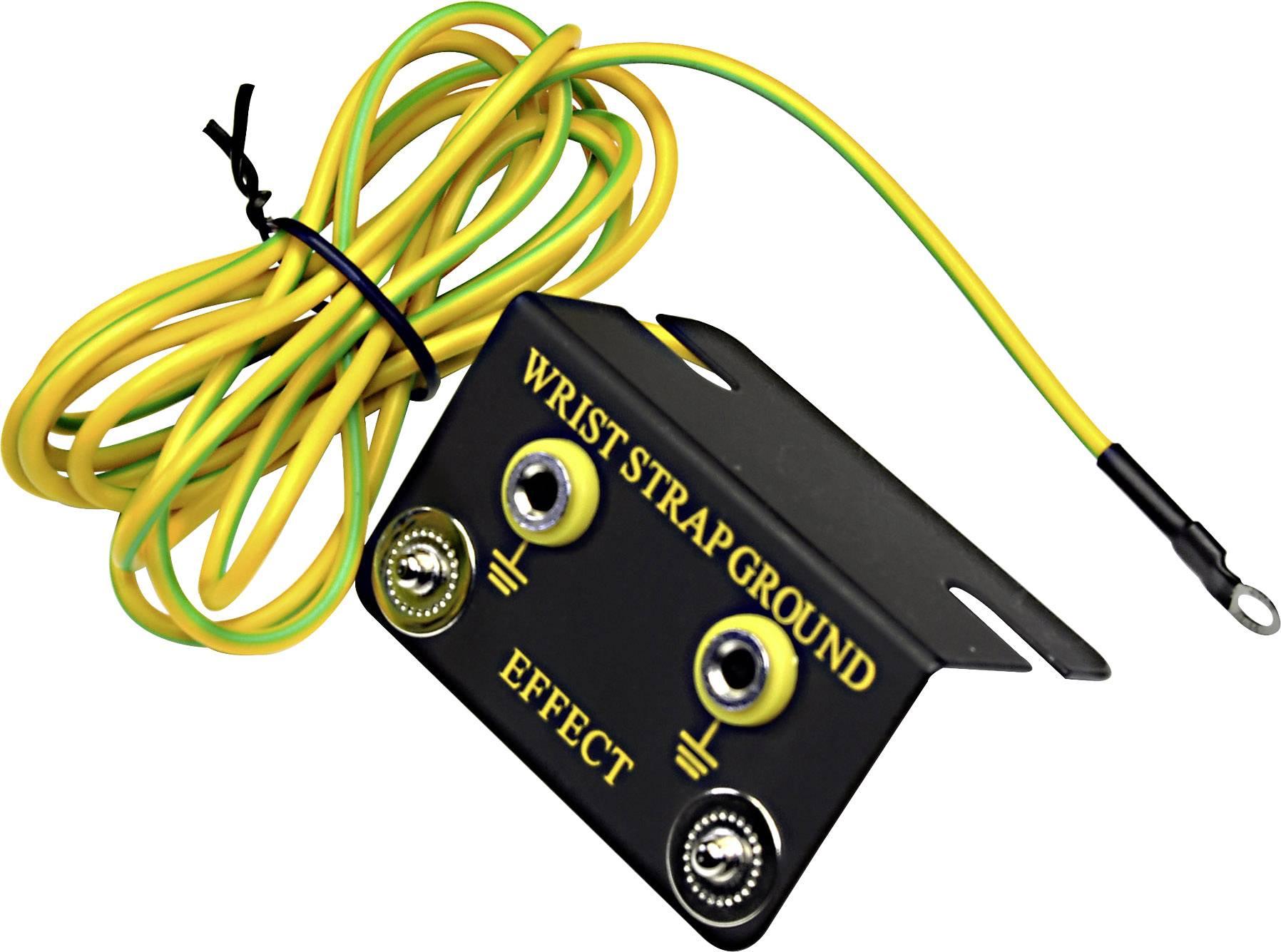 ESD zemnicí konektor, zemnicí kabel