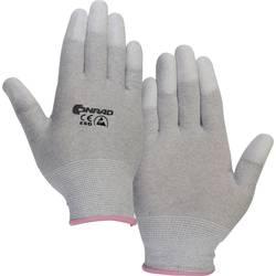 ESD rukavice Conrad Components EPAHA-RL-XS, s povrchovou úpravou na špičkách prstů, vel. XS, polyamid