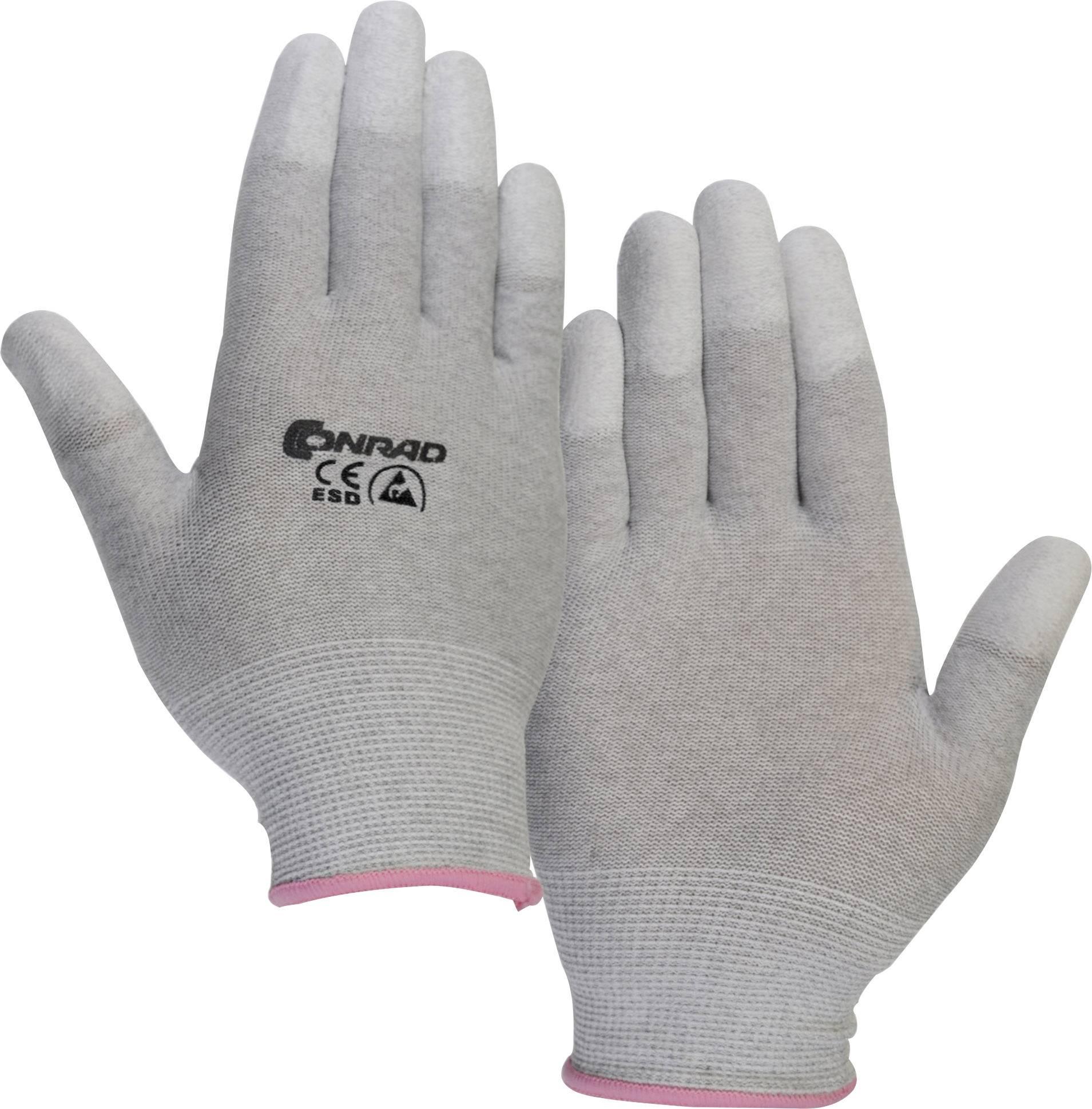 ESD rukavice Conrad Components EPAHA-RL-XS, veľ. XS, polyamid
