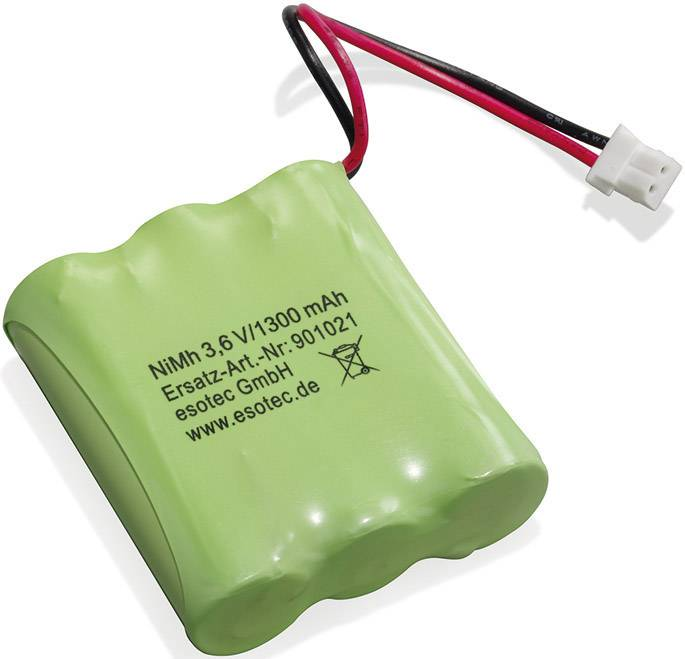 Akupack - sada nabíjacích batérií NiMH 3 mignon (AA) Esotec 901021, 1300 mAh, 3.6 V