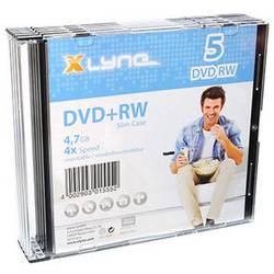 DVD+RW 4.7 GB Xlyne 6005000S, prepisovateľné, 5 ks, SlimCase