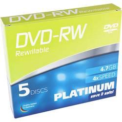 DVD-RW 4.7 GB Platinum 102570, prepisovateľné, 5 ks, SlimCase