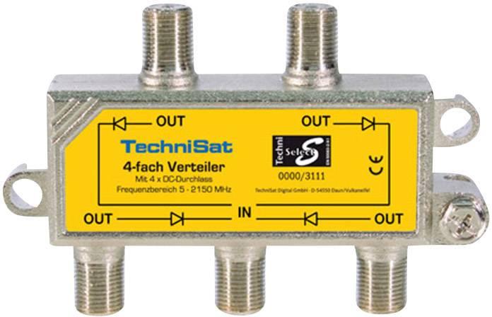 Satelitní rozdělovač čtyřnásobný TechniSat 0000/3111