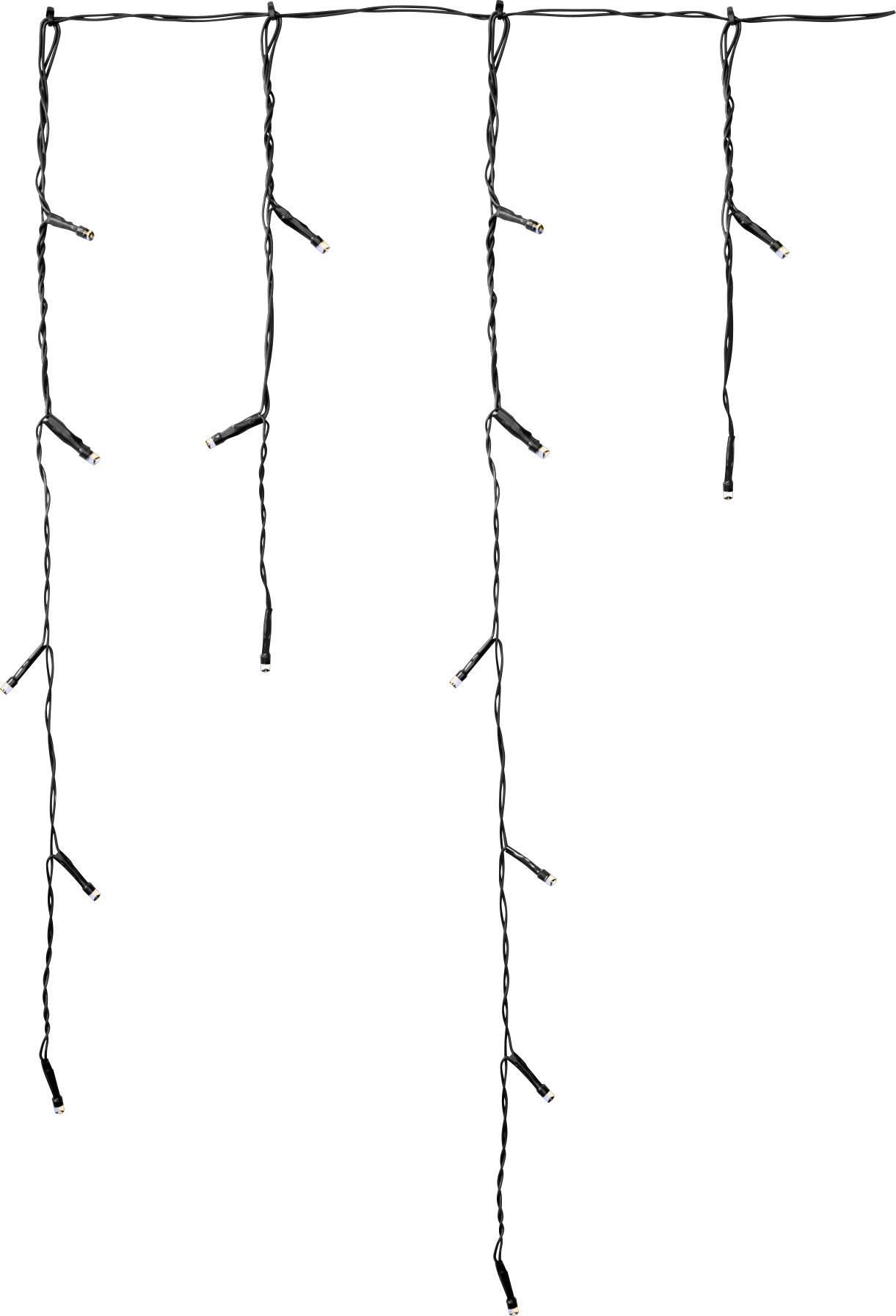 Vonkajšie LED cencúle Polarlite PCU-01-001, 72 LED, 3 x 0,55 m, do siete, teplá/studená biela