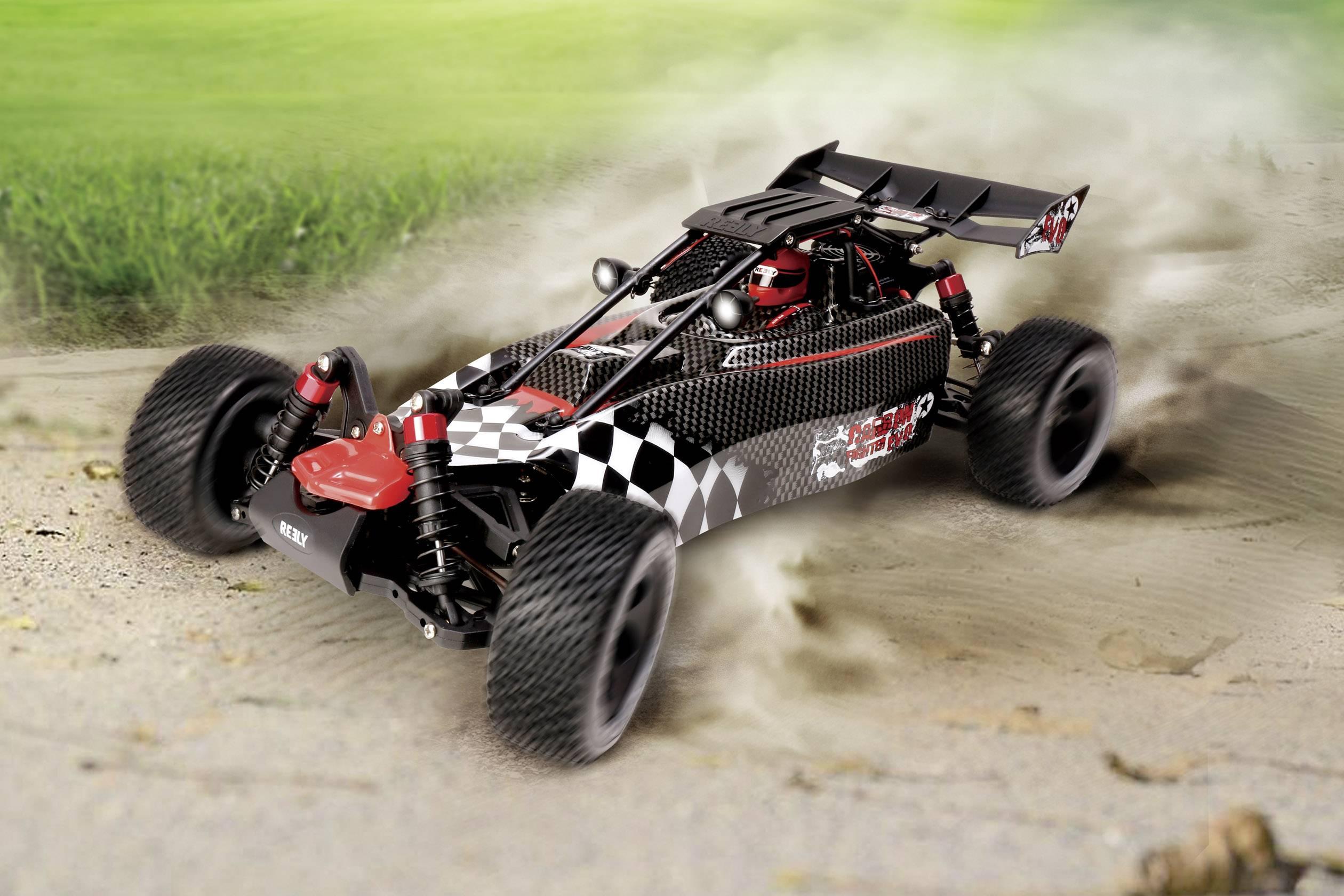 RC model auta Buggy Reely Carbon Fighter EVO, střídavý (Brushless), 1:10, 4WD (4x4), RtR, 35 km/h