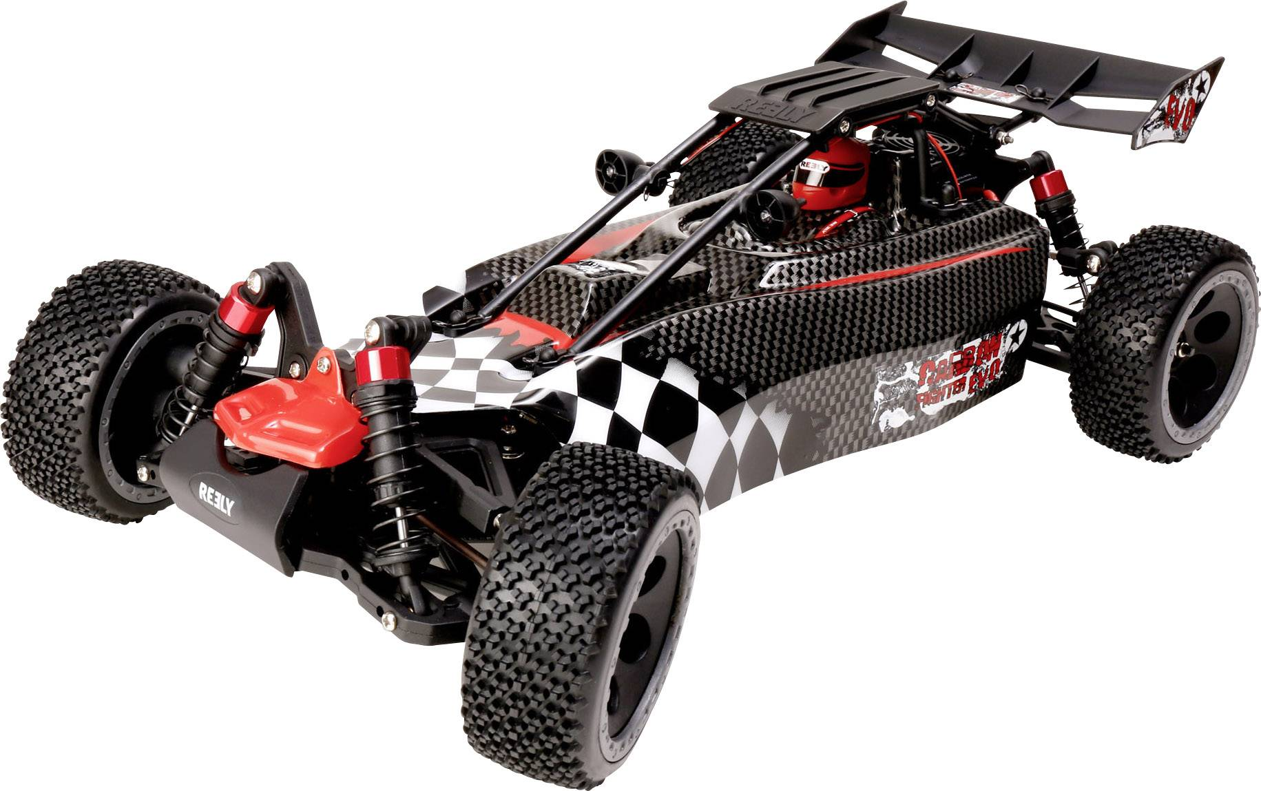 RC model auta buggy Reely Carbon Fighter EVO, 1:10, 4WD (4x4), BS