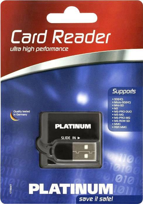 Externí čtečka paměťových karet Platinum 177604-3 177604-3, USB 2.0