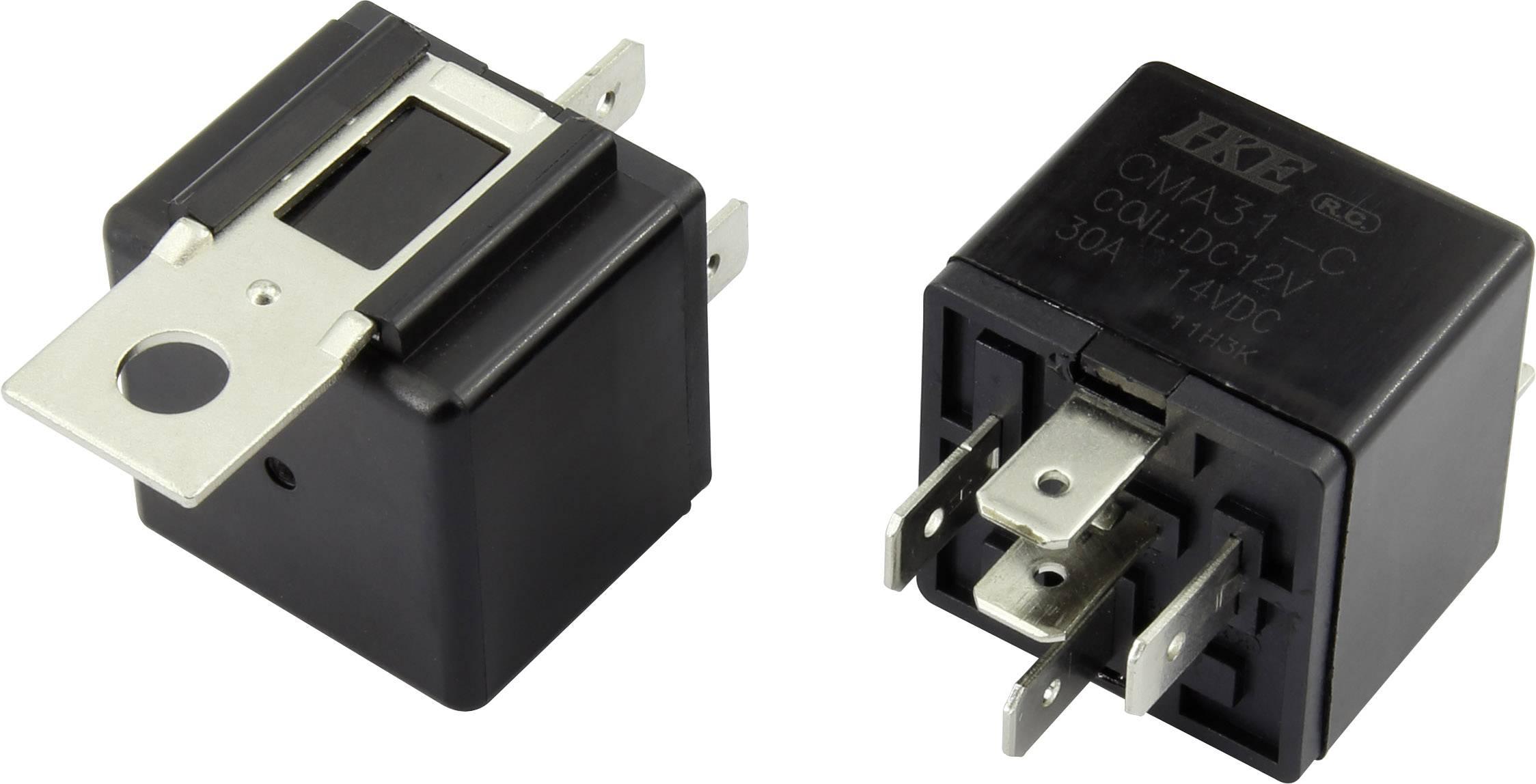 Relé pro automotiv HKE, 12 V/DC, 30 A, 1 přepínací kontakt