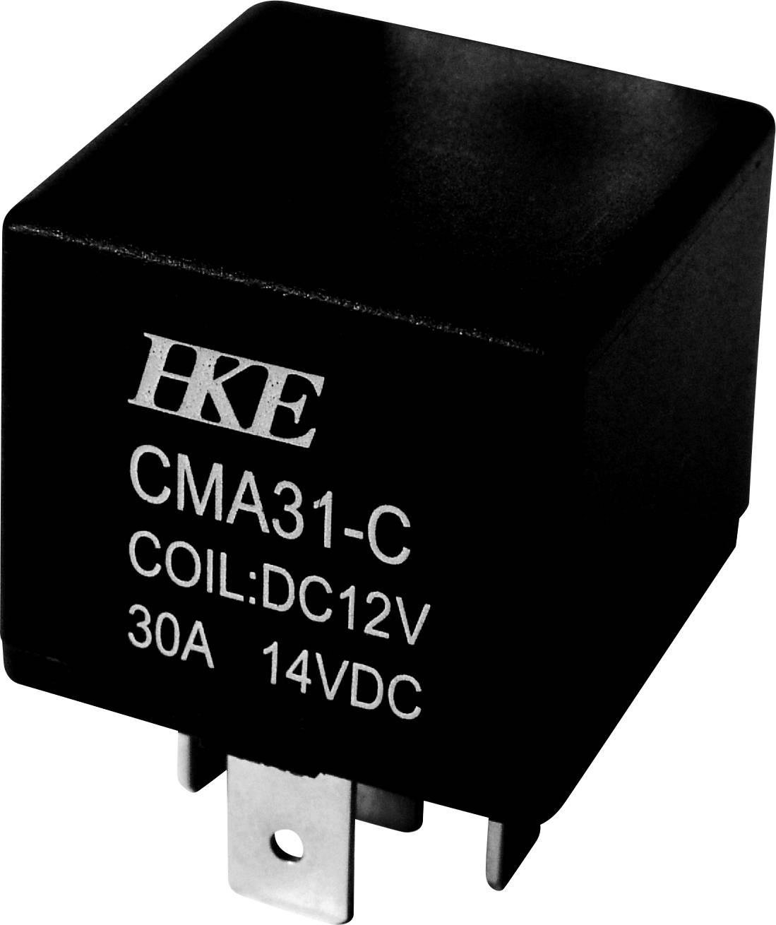 Relé motorového vozidla HKE, 12 V/DC, 30 A, 1 přepínací kontakt