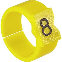 Označovací klip na kabely TE Connectivity STD21Y-6 3-1768047-1, žlutá, 50 ks