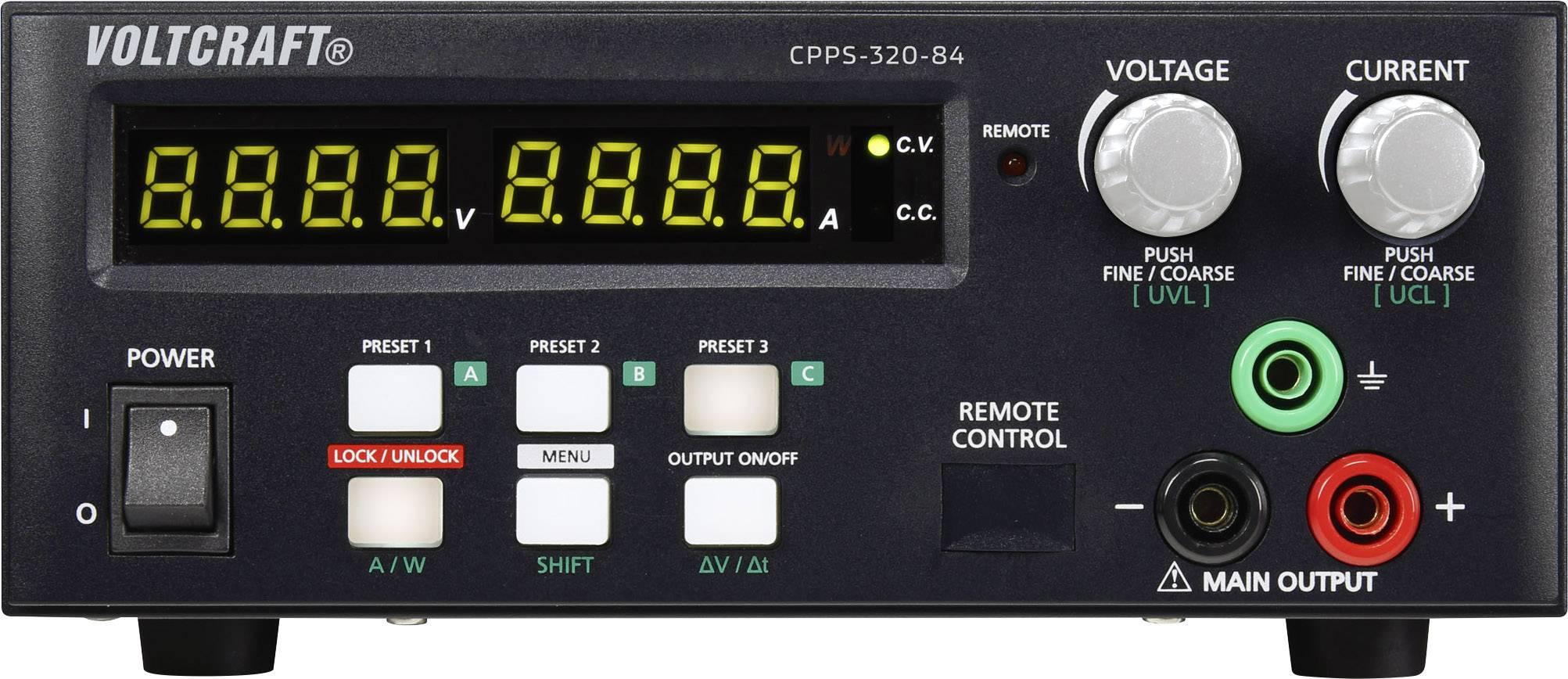 Laboratorní zdroj s nastavitelným napětím VOLTCRAFT CPPS-320-84, 0.02 - 84 V/DC, 0.01 - 10 A, 320 W, Kalibrováno dle ISO