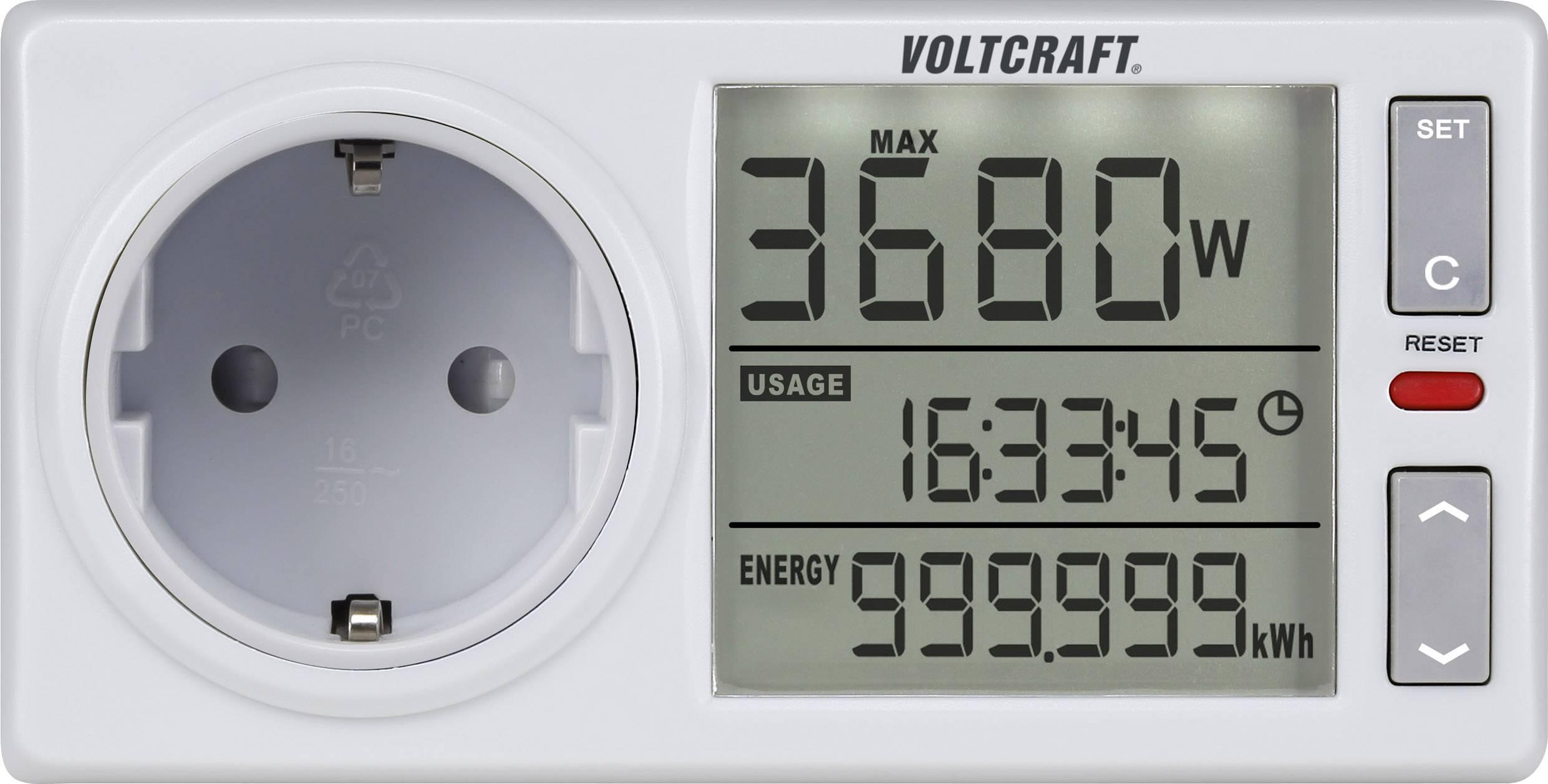 Zásuvkový merač spotreby el.energie VOLTCRAFT 4500ADVANCED DE