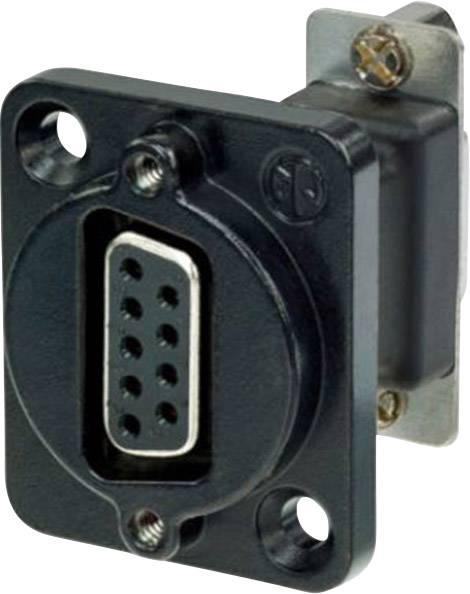 D-SUB adaptér Neutrik NADB9FF-B, D-SUB zásuvka 9pólová - D-SUB zásuvka 9pólová, 1 ks