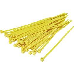 Stahovací pásky TRU COMPONENTS TC-CV300S203 1593705, 300 mm, žlutá, 100 ks