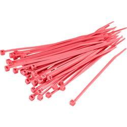 Stahovací pásky TRU COMPONENTS TC-CV300S203 1593706, 300 mm, červená, 100 ks