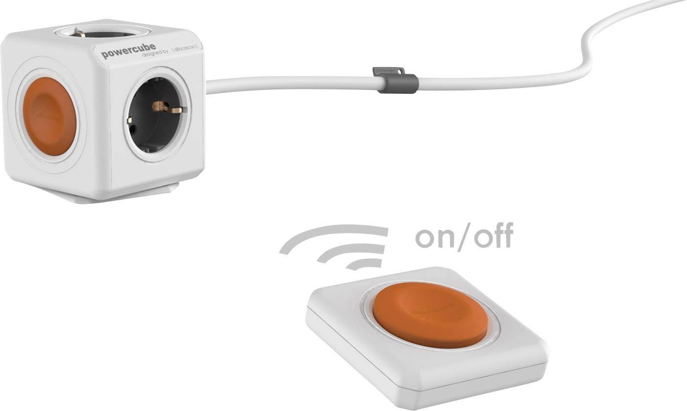 Stolová zástrčková kocka s diaľk.ovládačom Segula Powercube Extended Remote Set 50430, 1.50 m, biela, oranžová