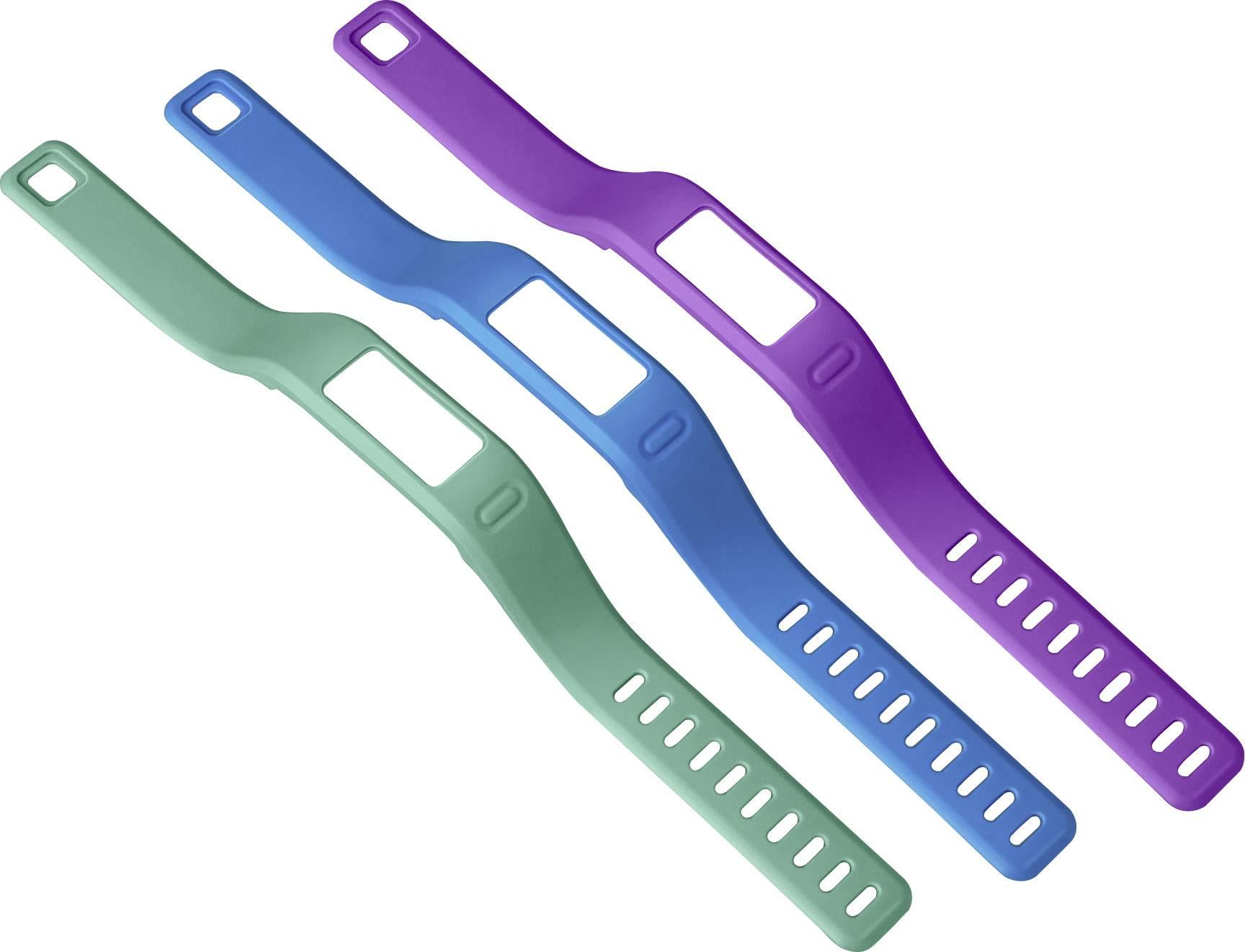 Náhradní řemínek pro Garmin Vivofit, velikost = S, modrá, fialová, zelená, 3 ks