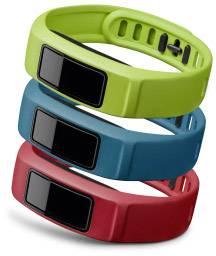 Náhradný remienok pre Garmin vivofit 2, veľkosť S, červená, modrá, zelená, 3 ks