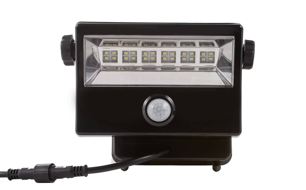 Solární bodové osvětlení DioDor DIO-FL16W-WM-SP-B 16 W, studená bílá, černá