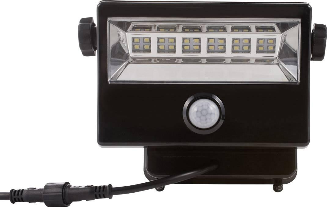 Solárne bodové osvetlenie DioDor DIO-FL28W-WM-SP-B, 28 W, studená biela, čierna