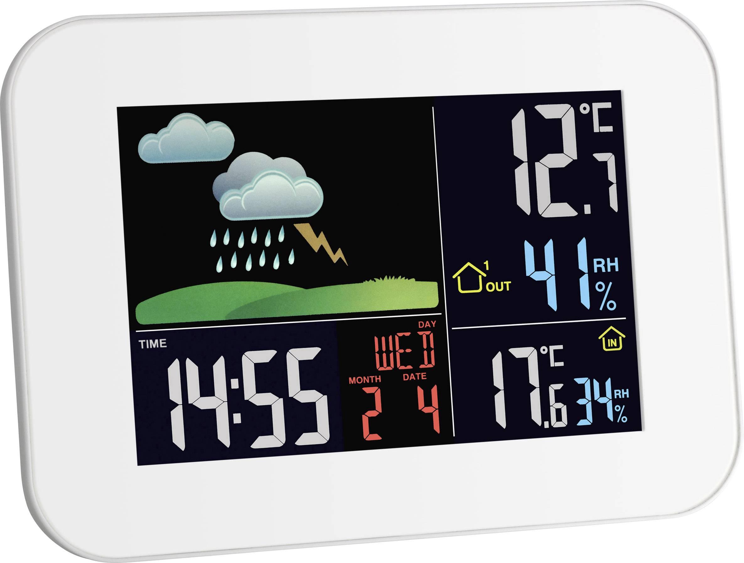 Bezdrátová meteostanice TFA Primavera s USB nabíječkou mobilů, bílá