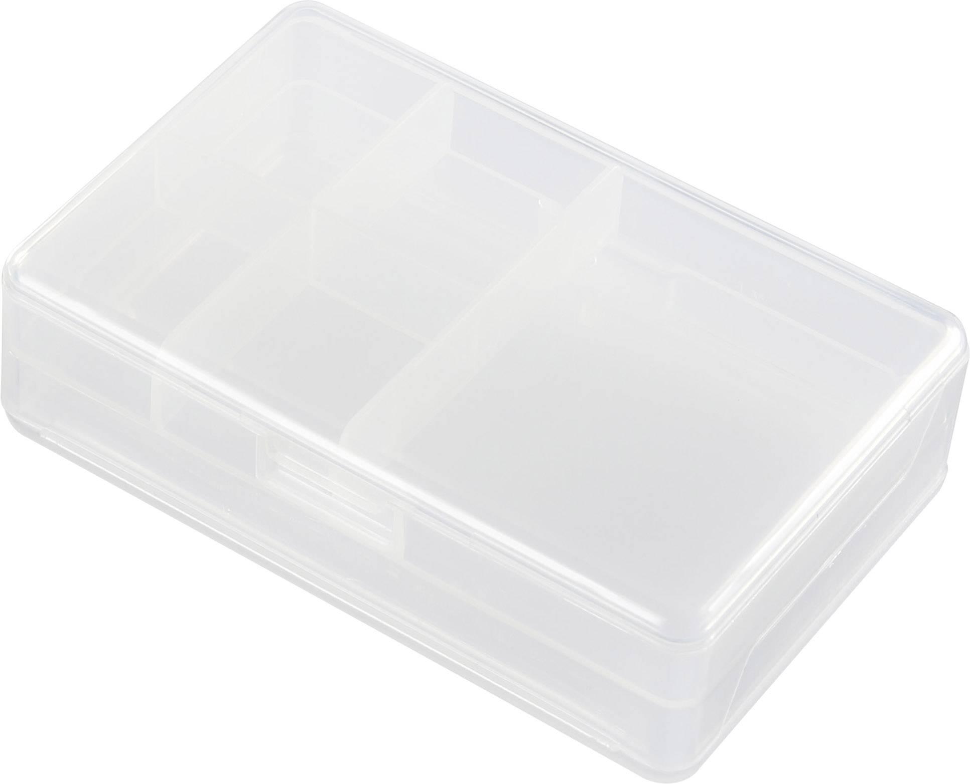 Krabička na malé součástky TRU COMPONENTS 1565596, přihrádek: 6, 103 x 68.3 x 30.5 , transparentní