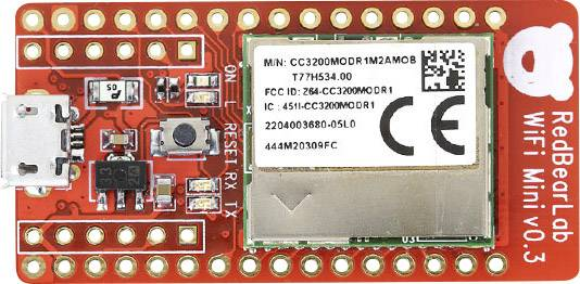 Vývojová deska Seeed Studio RedBearLab CC3200 WiFi Mini